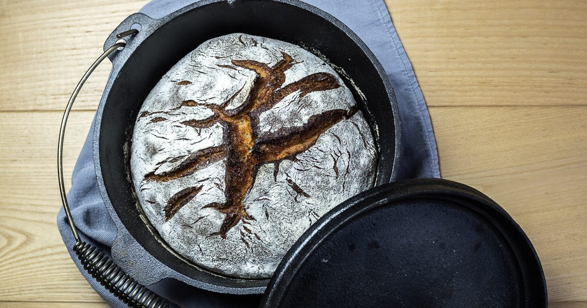 Topf-Brot / No-Knead-Bread: Buttermilch-Kruste